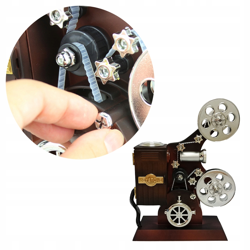1 ks Retro filmový filmový projektor Vint Music Box