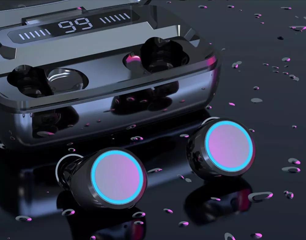 SŁUCHAWKI Bezprzewodowe BT5 WODOODPORNE PowerBank Rodzaj słuchawek douszne