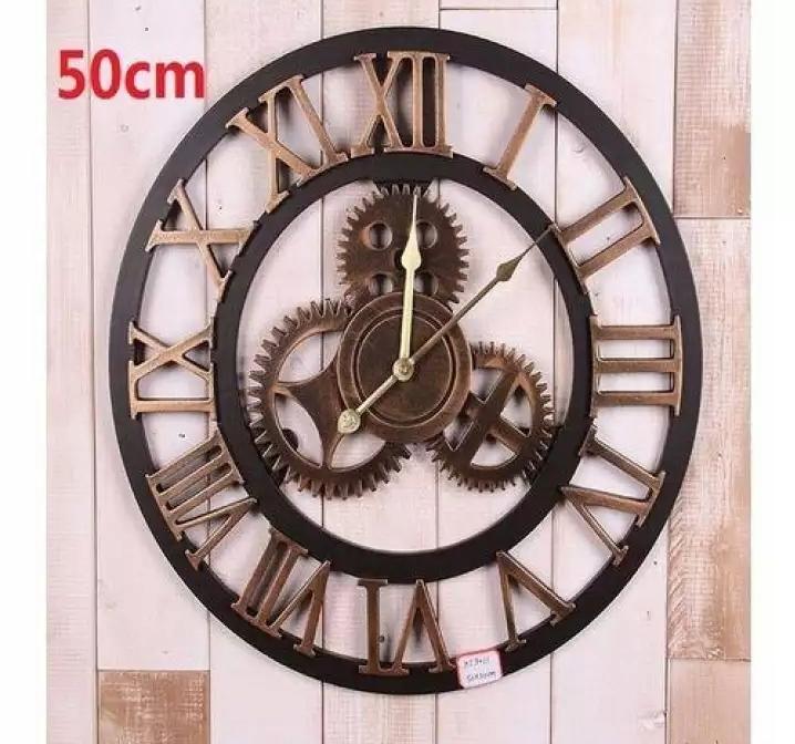 Nástenné hodiny 60cm Vintage Retro 3D Roman