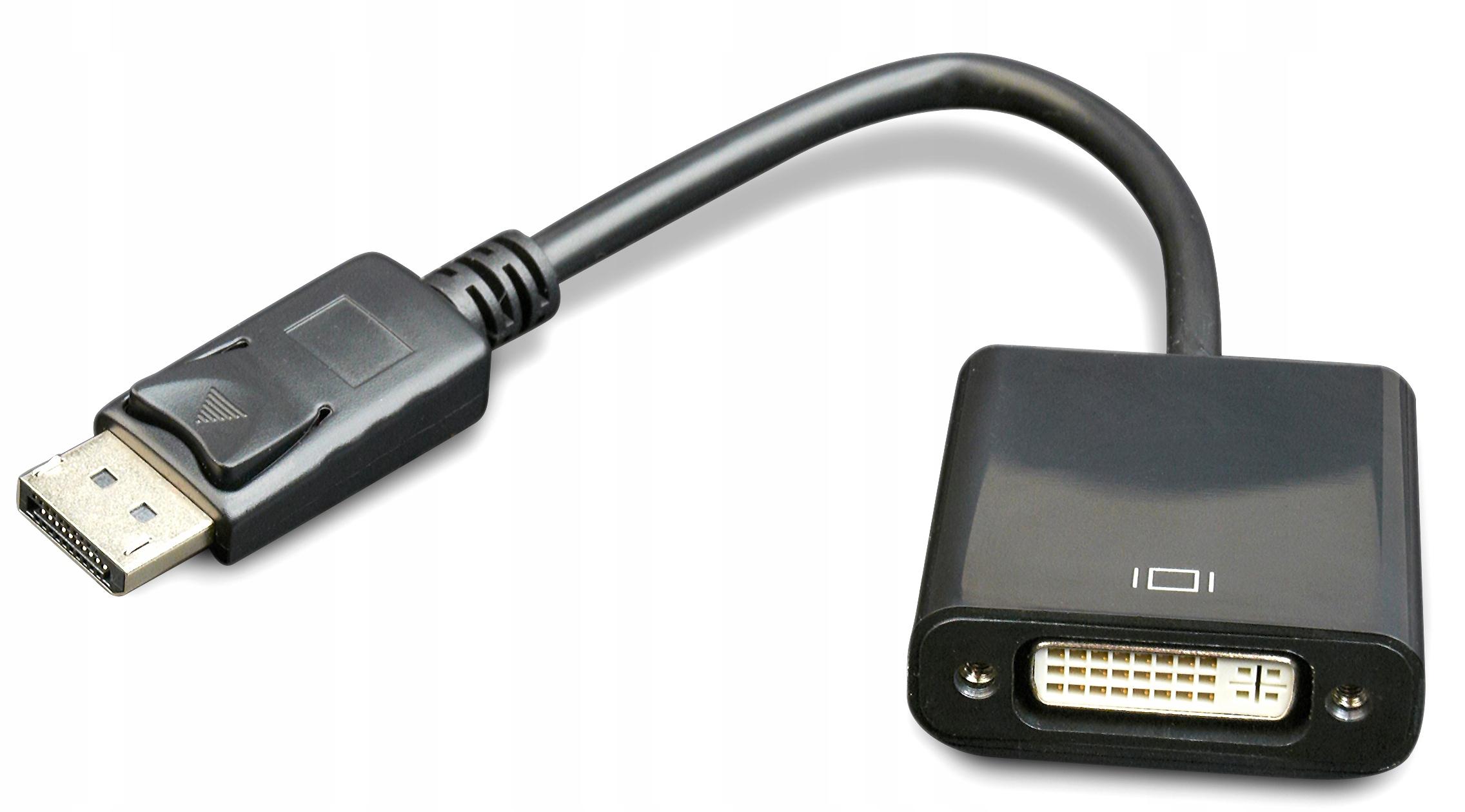 Купить Адаптер Конвертер Display Port - DVI Черный на Otpravka - цены и фото - доставка из Польши и стран Европы в Украину.