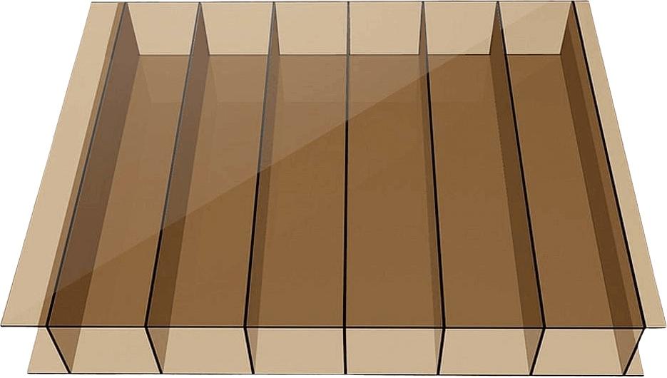 POLIWĘGLAN KOMOROWY 6mm UV brązowy 6x2,1m