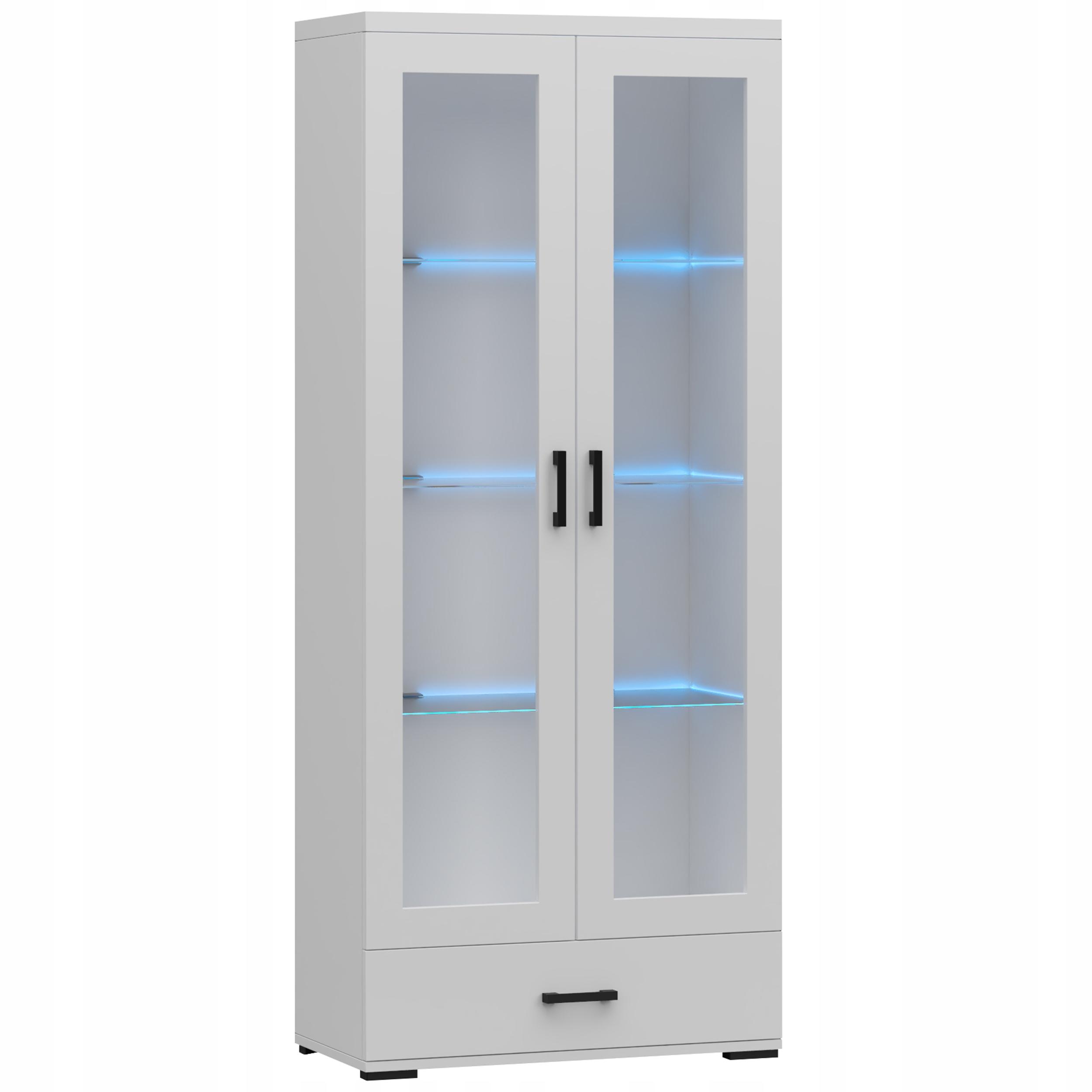 Витрина с ящиком 80 см, светодиодный вариант - Белый