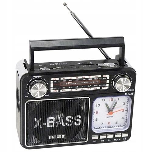 Radio z zegarkiem i lampką LED Meier Mp3 USB FM AM