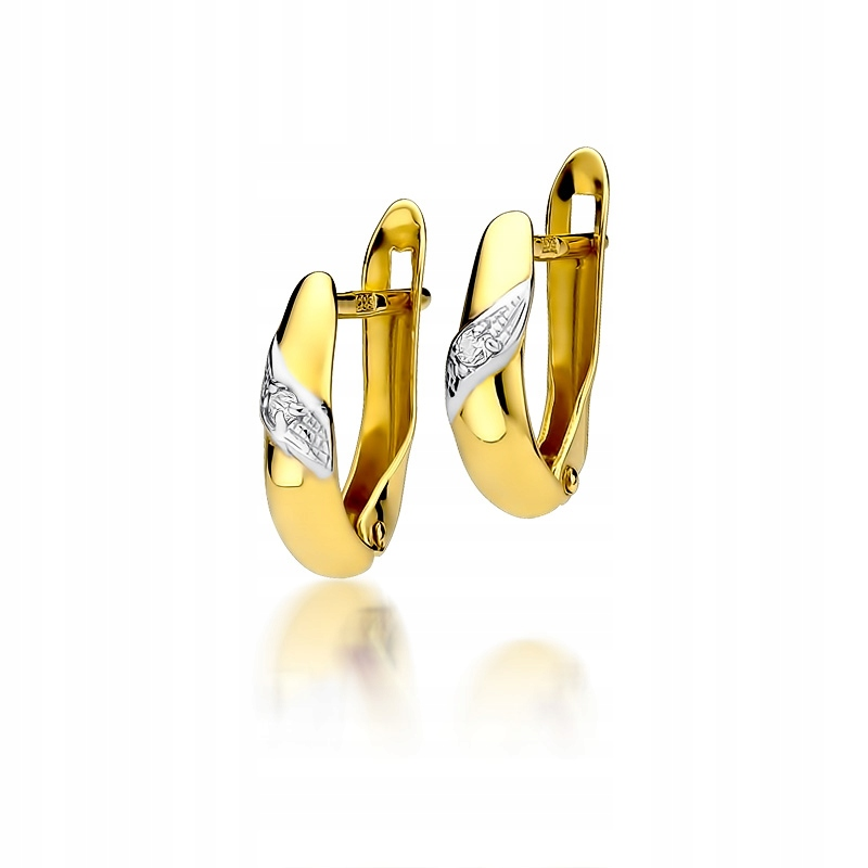 Zlaté náušnice s diamantmi 0,04 ct