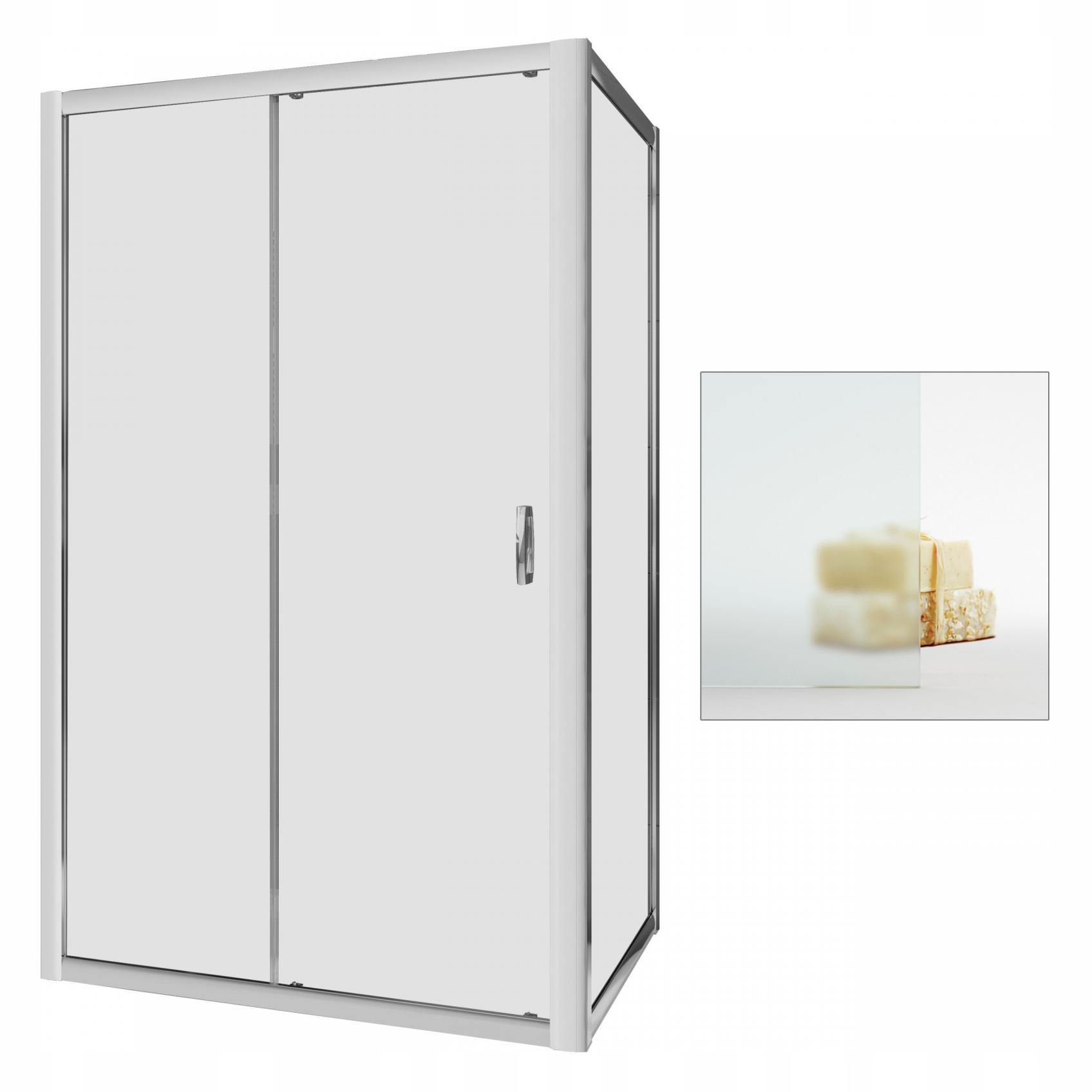 Kabína sprchovacím kútom Premium Plus DWJ+S 100x90 textílie