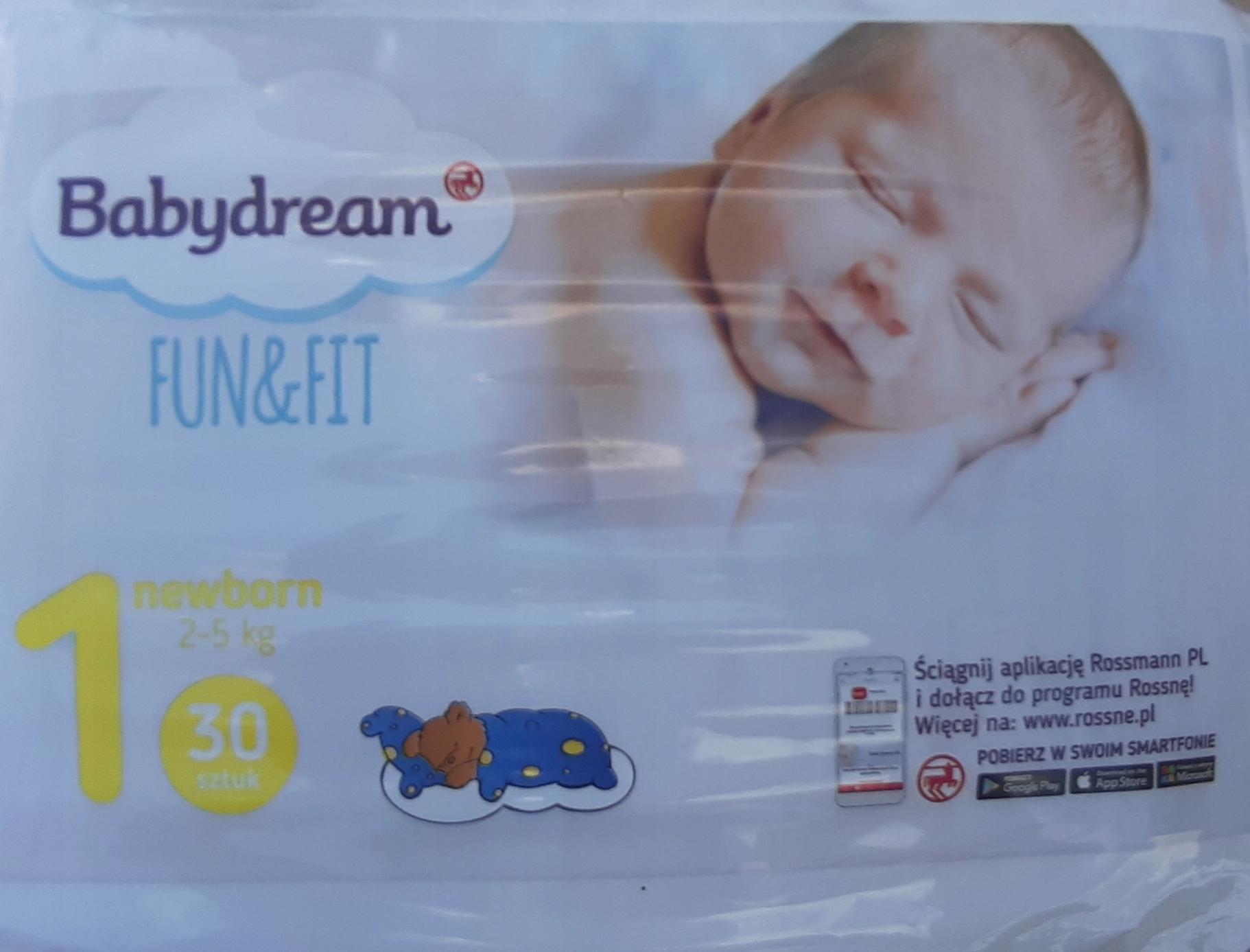 Babydream Fun Fit размер 1 (2,5 кг) 30 шт.