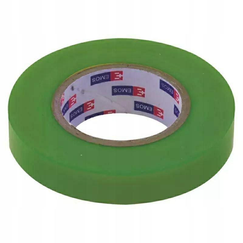 Изоляционная лента зеленая 15 / 10 EMOS ПВХ F61519