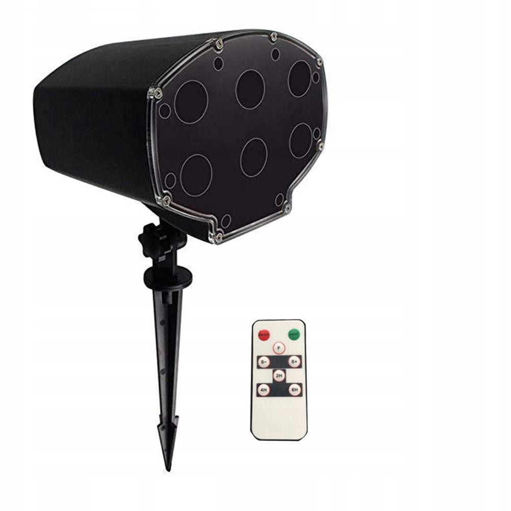 Sneženie LED svetelný vianočný projektor vodotesný