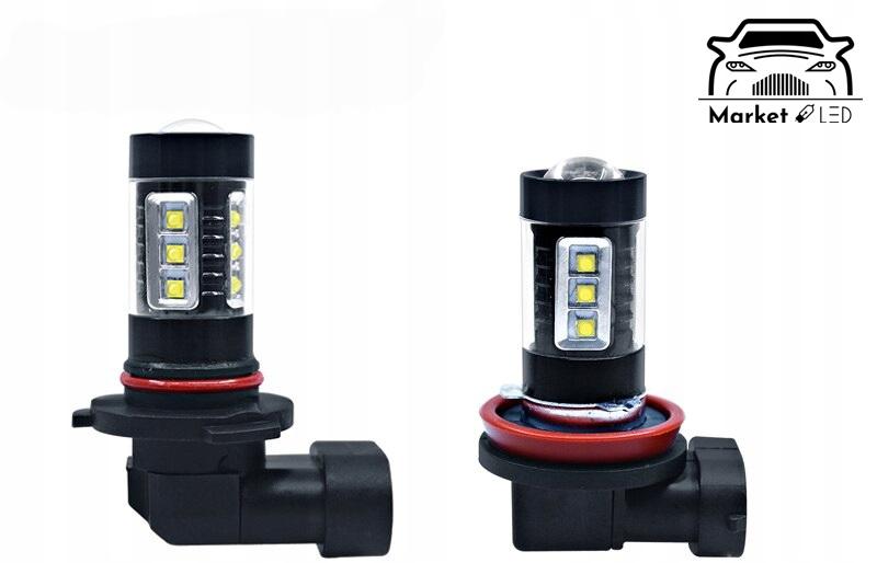 H11 - LED - Zamiennik H11 - 16 CREE XBD 80W Rodzaj LED
