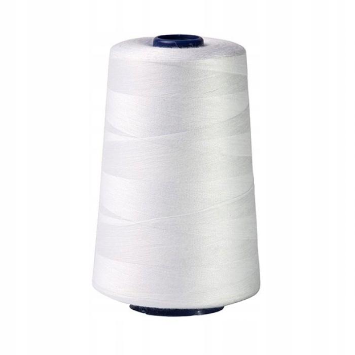 Машинная нить для швейной машины белая 5000м