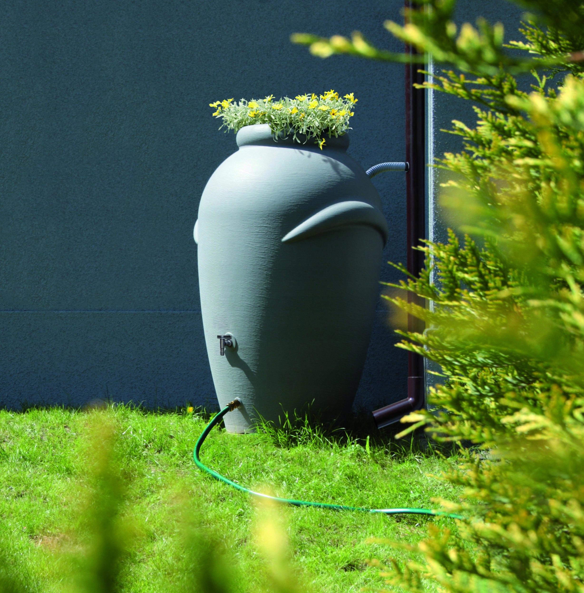 Kompletny zbiornik na wodę BECZKA 210l, deszczówka Waga produktu z opakowaniem jednostkowym 8 kg