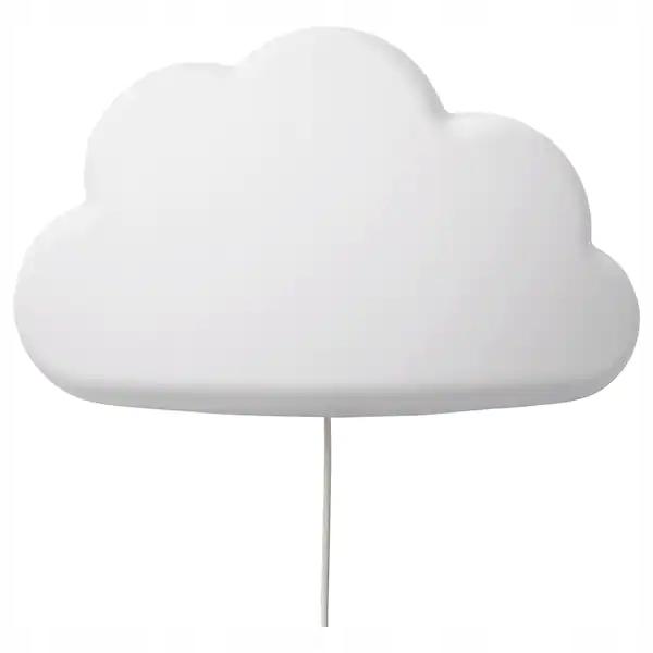 IKEA UPPLYST Nástenná lampa LED oblak biela