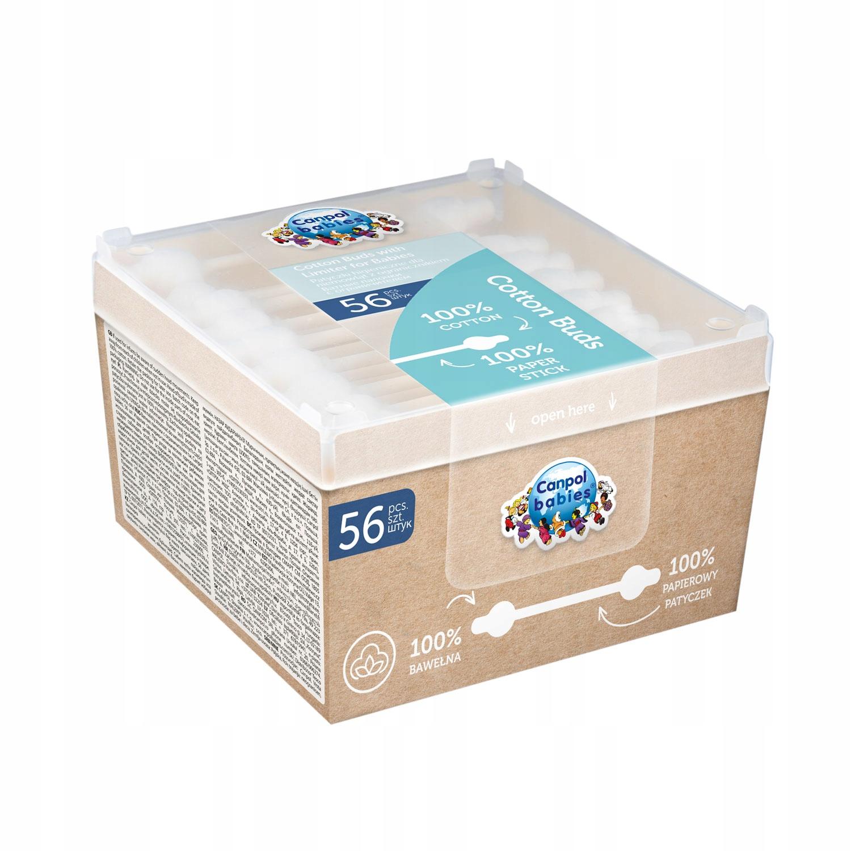 Canpol patyczki higieniczne dla niemowląt 56 szt.