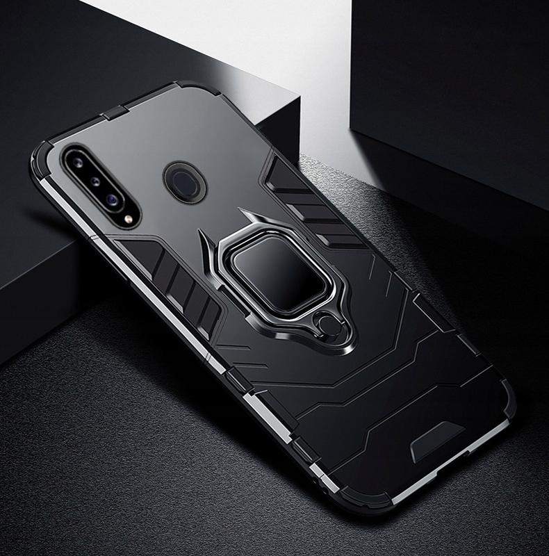 Etui do Samsung Galaxy A20S Pancerne Armor + Szkło Kolor czarny