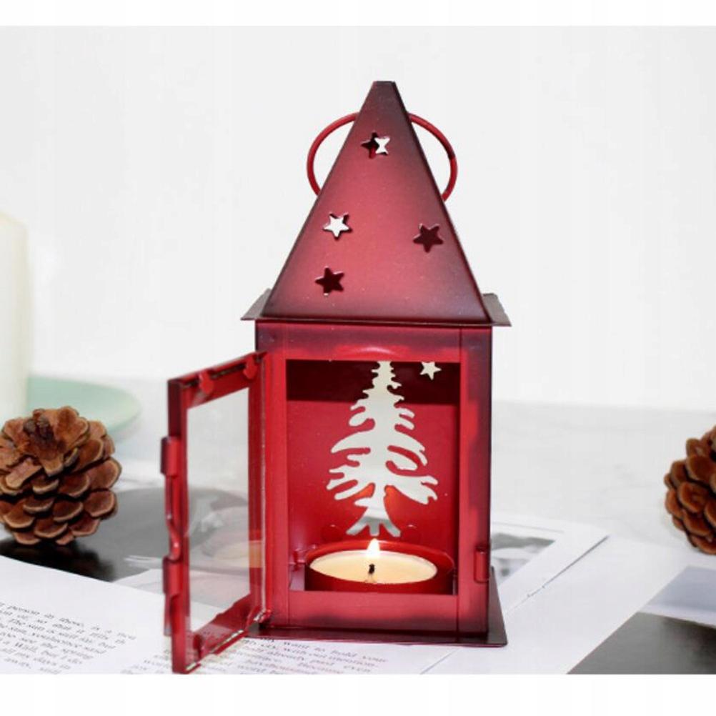2 ks vianočný svietnik Retro Iron Candlestick