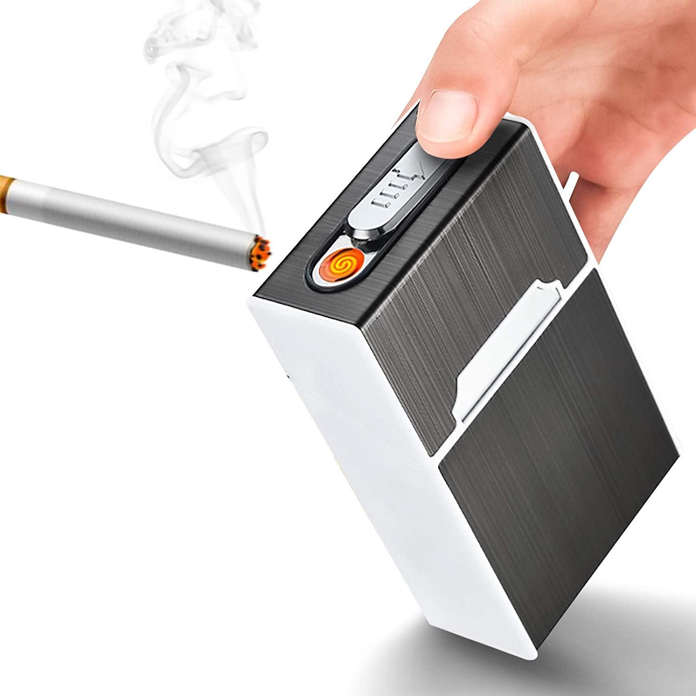 Портсигар с плазменной USB-зажигалкой