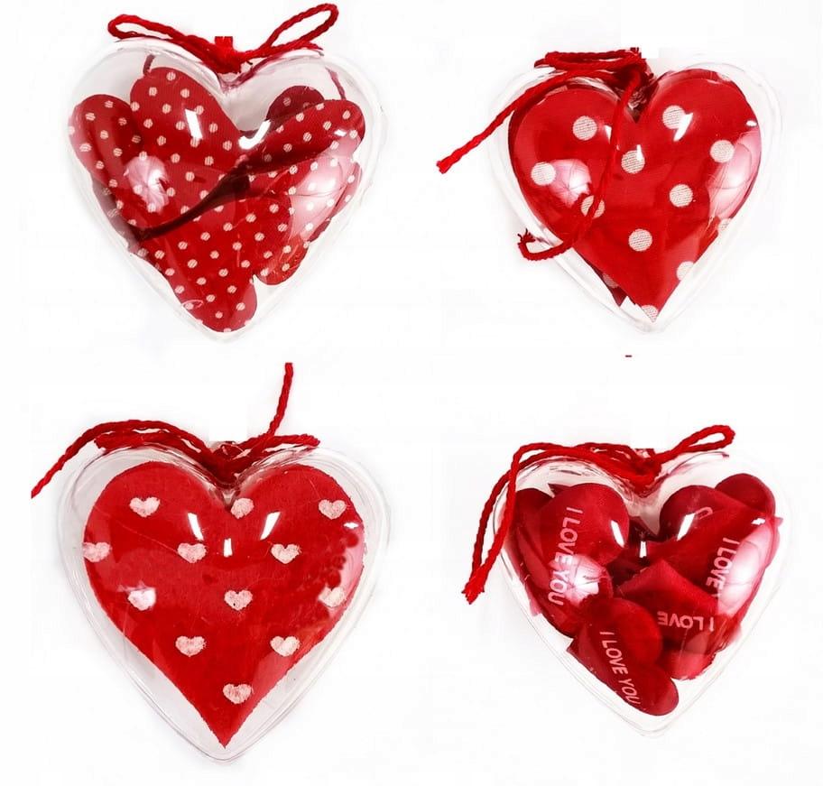 Подвеска-сердце из акрила с наклейками-сердечками 6 см