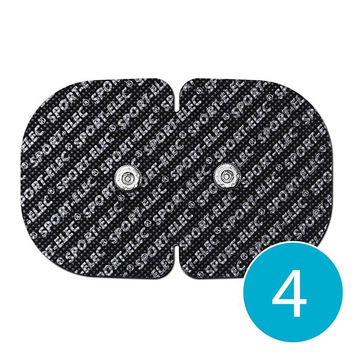 Dvojitá elektróda Sport-elec 110 x 71 mm čierna, 4 ks