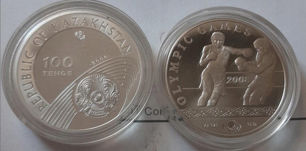 KAZACHSTAN 100 tenge 2008r Ag