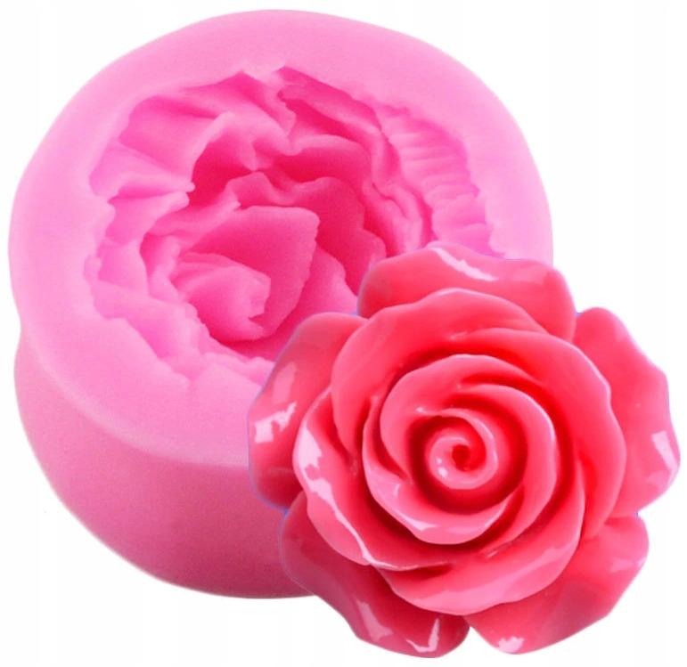 Forma silikonowa Róża, mydło wosk żywica czekolada