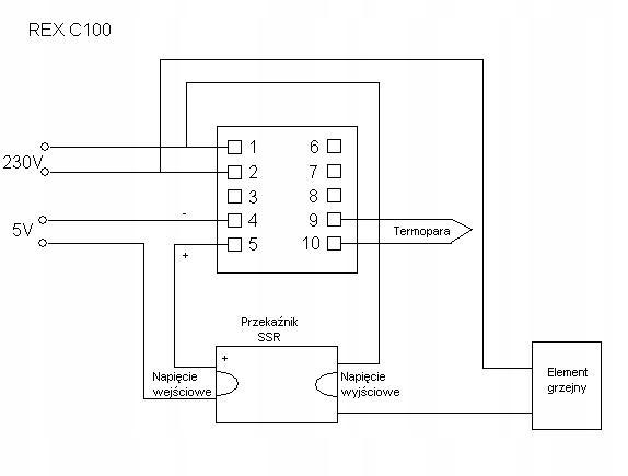 STEROWNIK REGULATOR TEMPERATURY REX C100 230 SSR