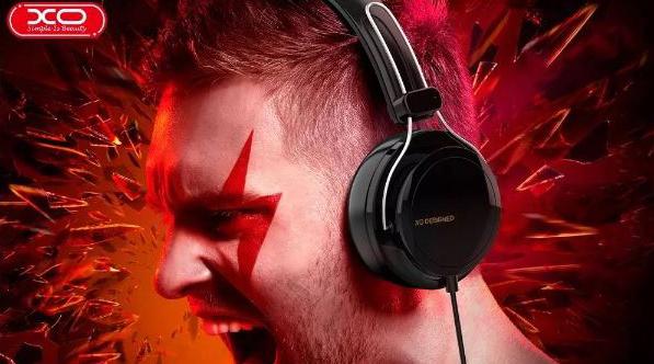 Słuchawki Nauszne Przewodowe Mikrofon Kolor czarny