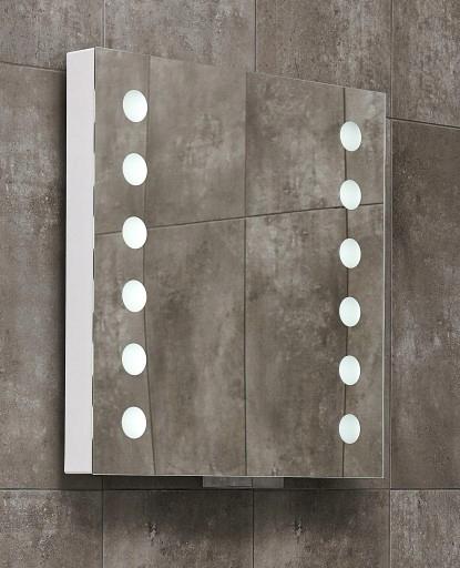 Lustro Miior/Newmi ACT.60 58x60cm z LED wysuwane Przeznaczenie Do łazienki Do pokoju Do przedpokoju Do sklepu