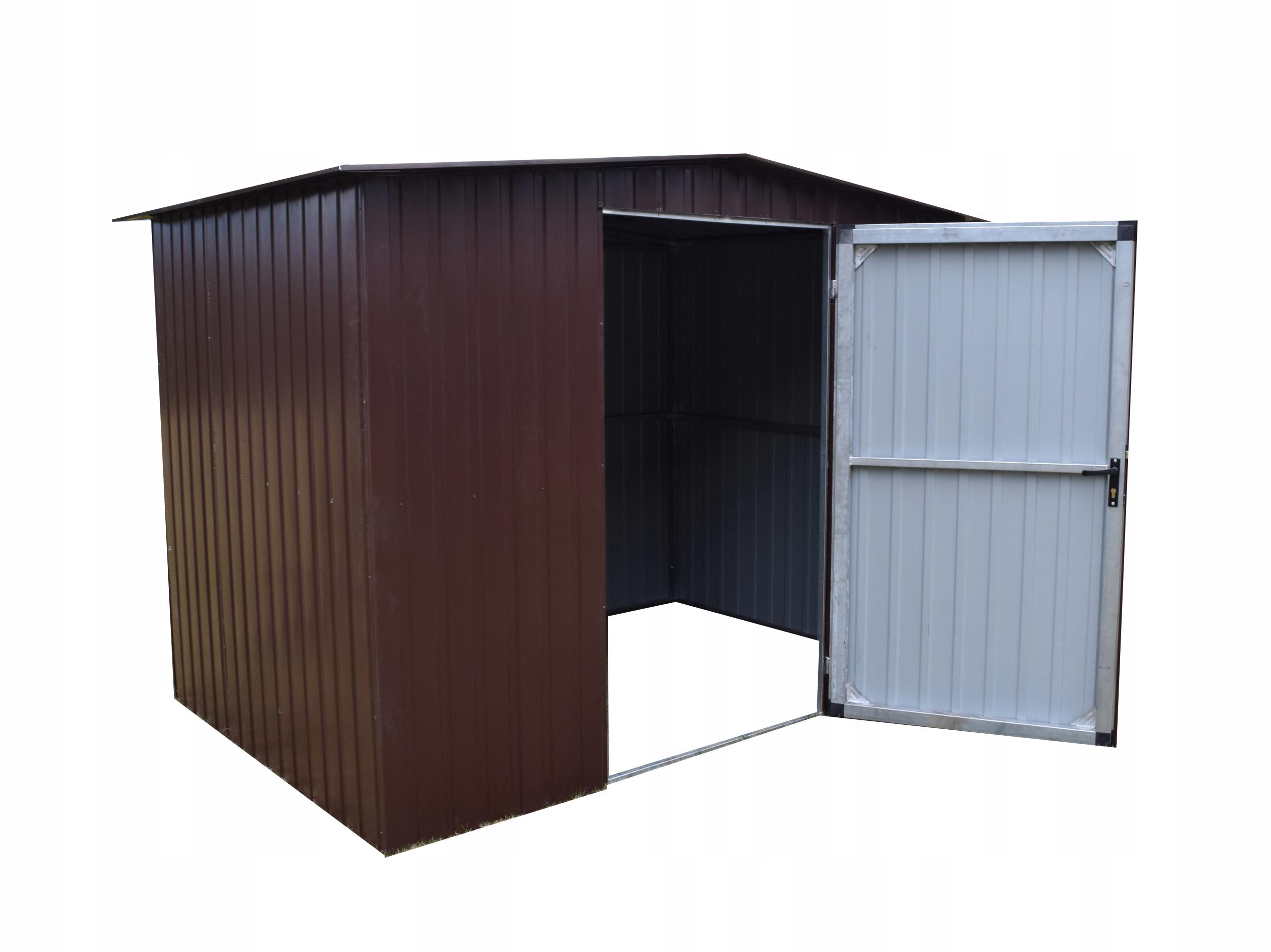 Domek narzędziowy 2,6x1,8 garaż blaszany komórka