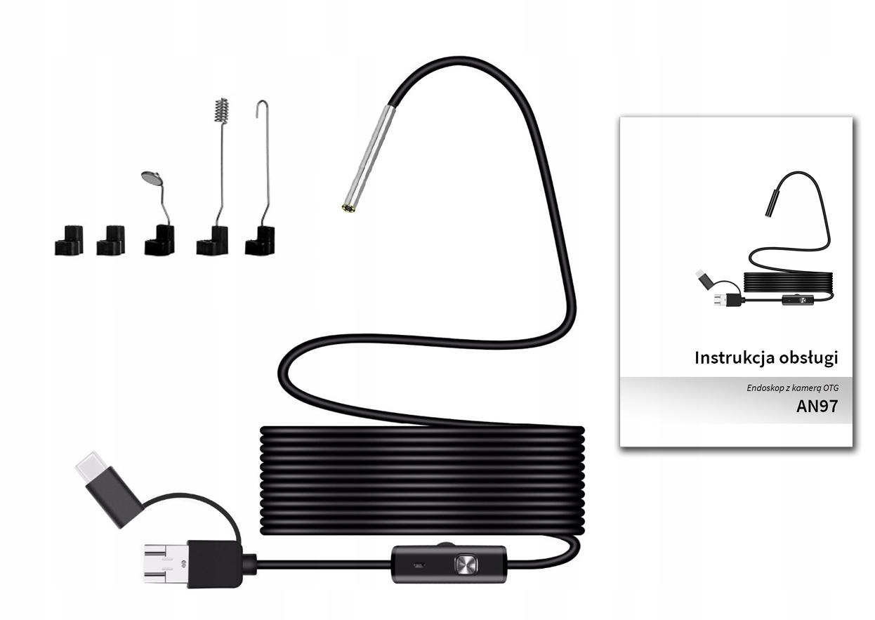 Kamera INSPEKCYJNA ENDOSKOP 3.9mm HD ANDROID USB-C EAN 5902659172709