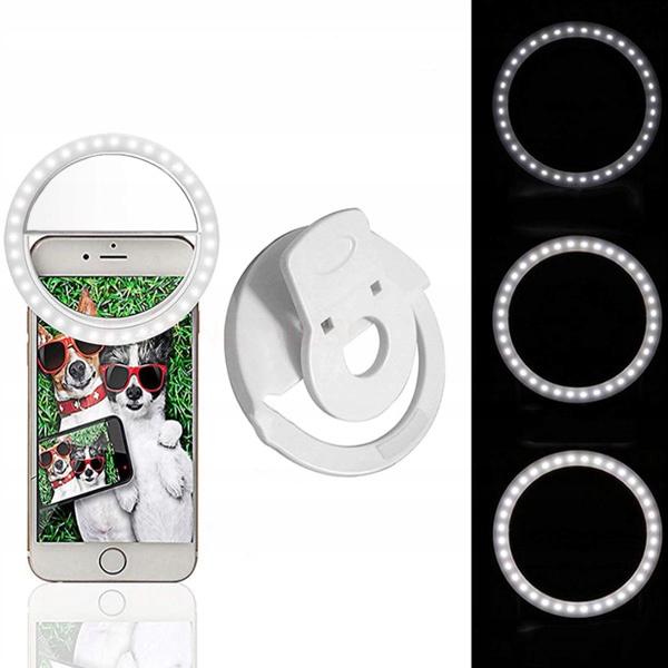 Lampa Pierścieniowa Selfie LED do Telefonu Waga (z opakowaniem) 0.1 kg