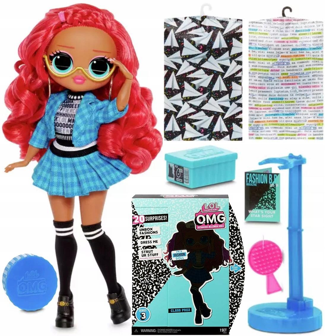 Prekvapená bábika Lol OMG triedy Prez série 3+