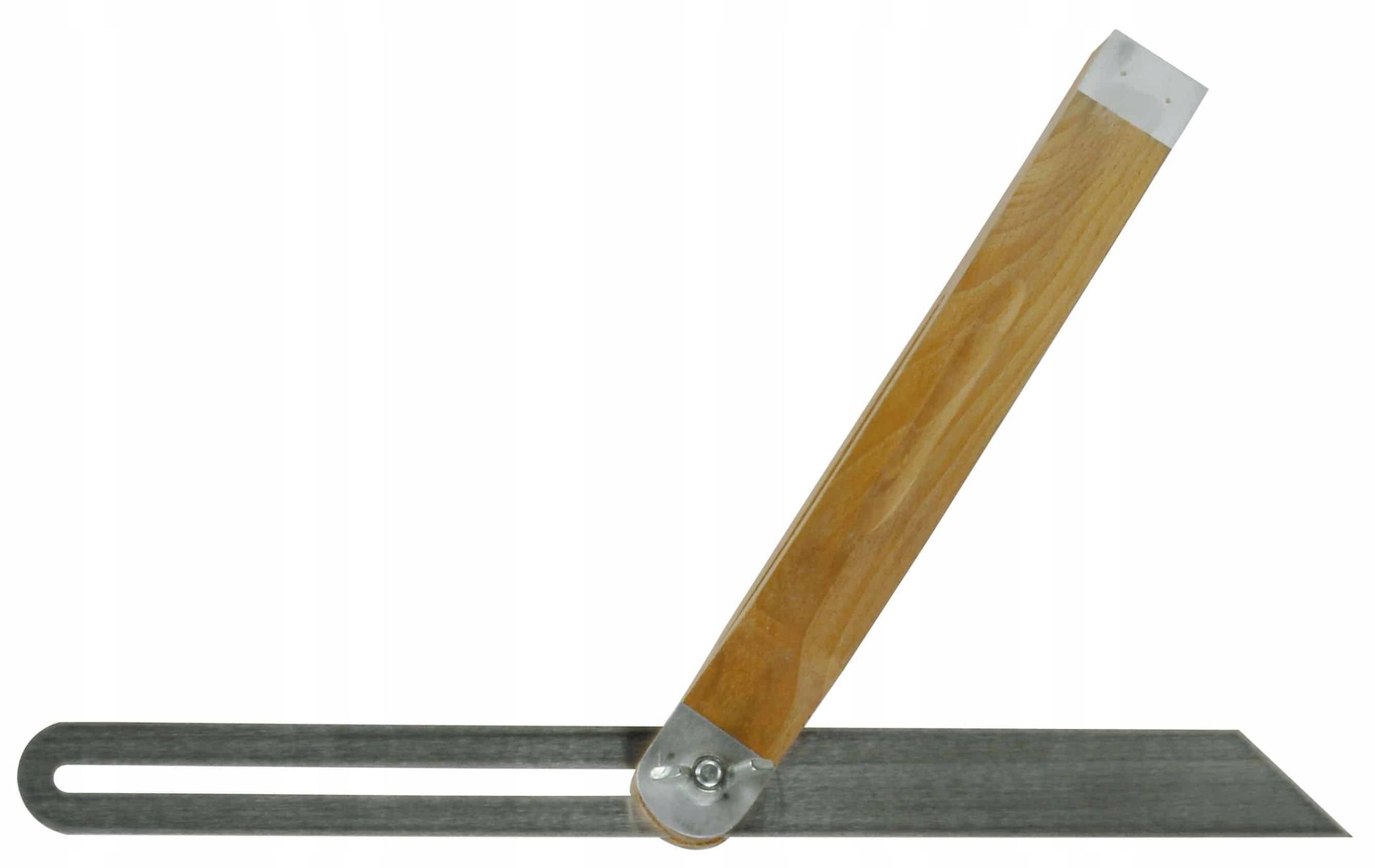 Regulowany Kątomierz Aluminium Drewno 300mm Medid