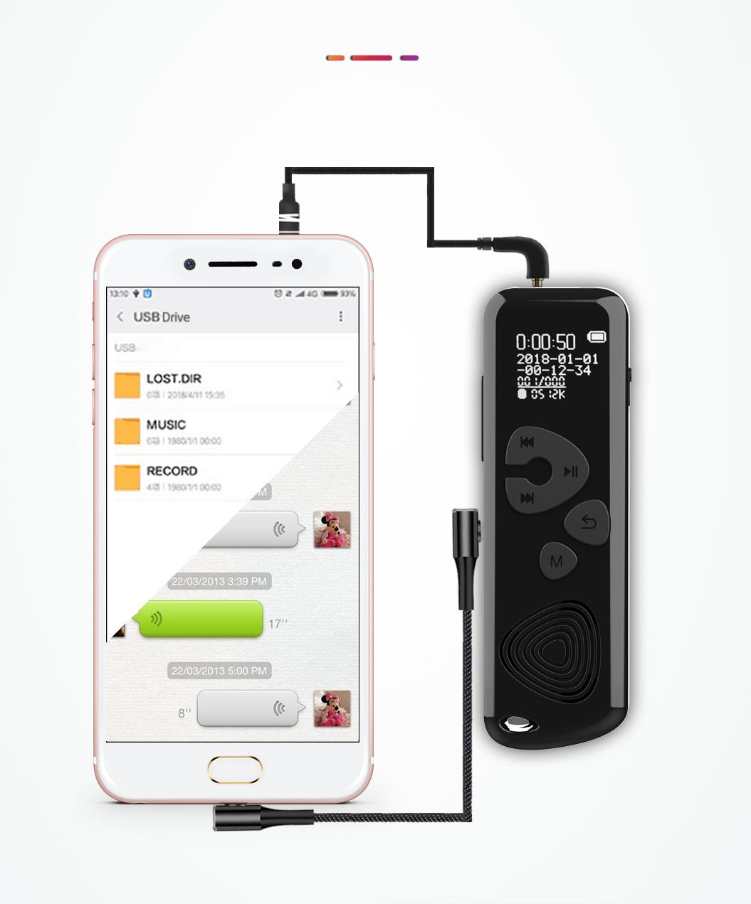 Szpiegowski Dyktafon cyfrowy 1024Kbps 8GB detekcja Aktywacja nagrywania głosem tak