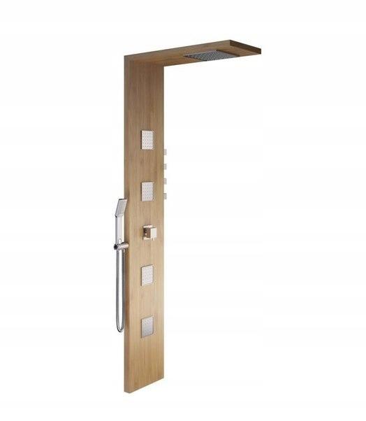Bambusový hydromasážny termostat sprchový panel