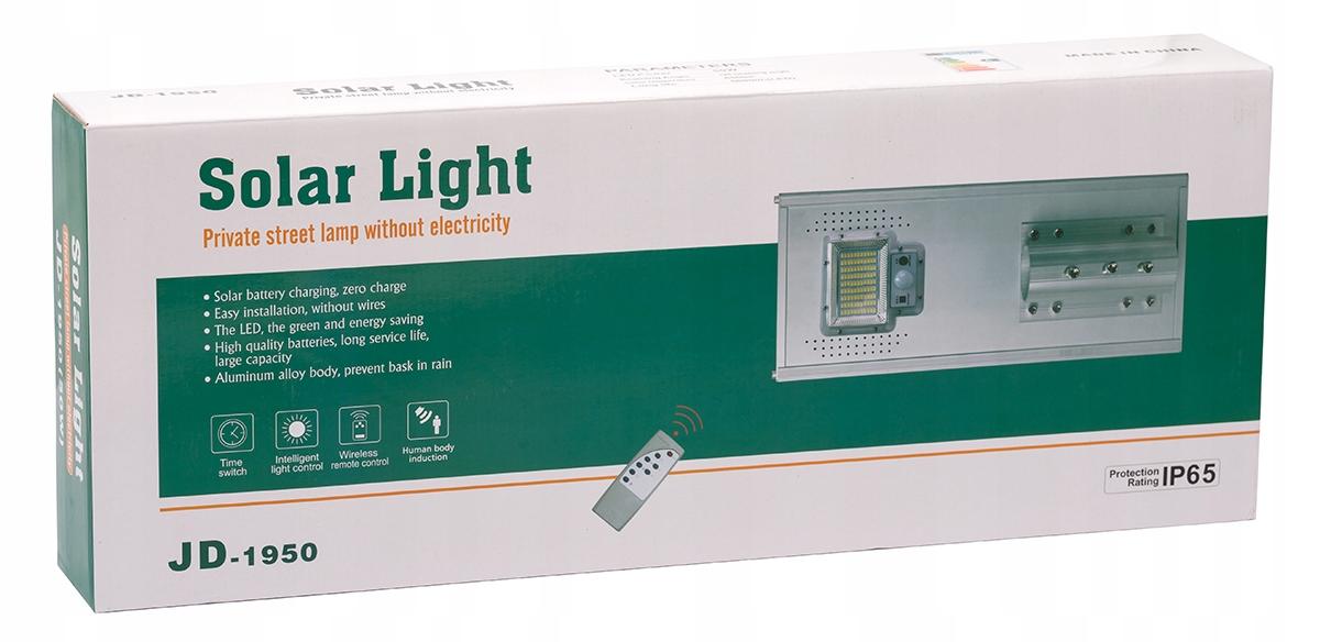 LAMPA ULICZNA LED LATARNIA SOLARNA 50W MONTAŻ IR Moc lampy 50 W