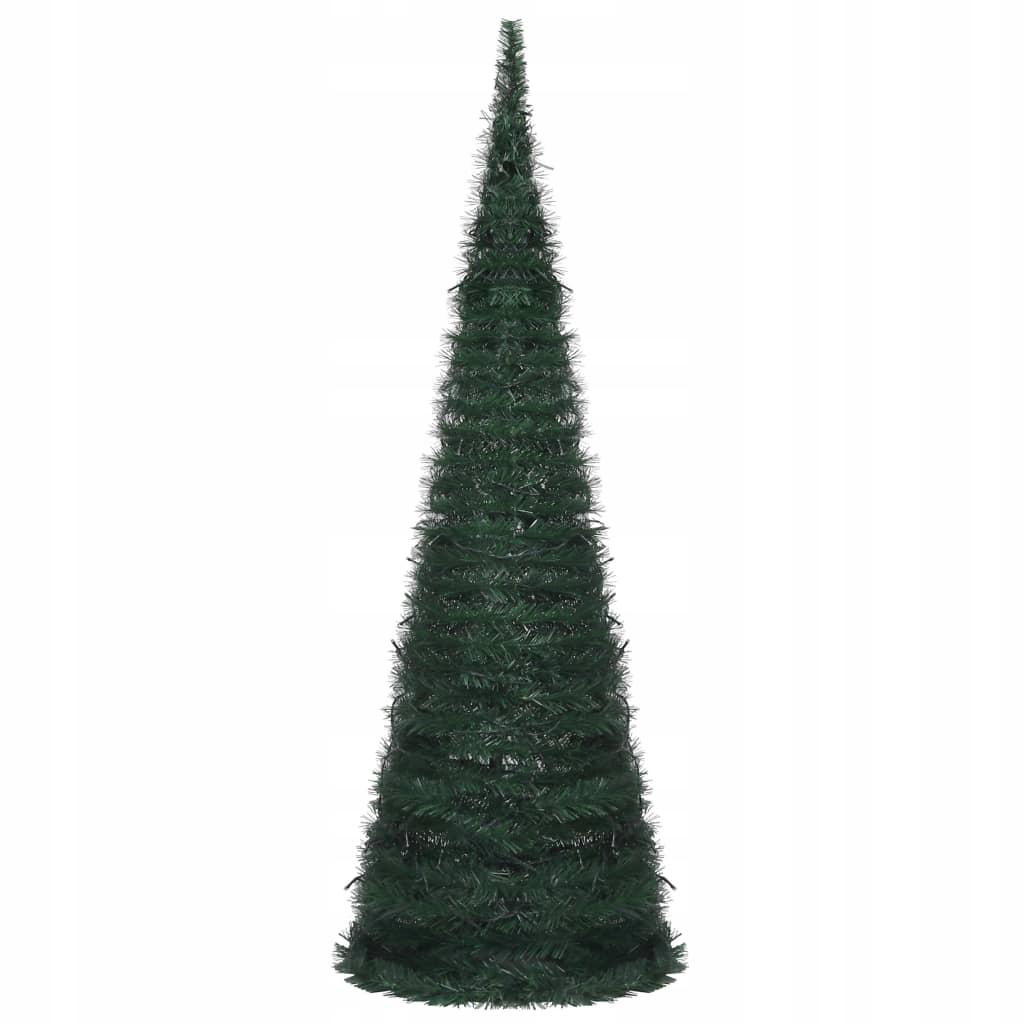 Skladací, umelý vianočný stromček, šnúrka, LED, 180 cm