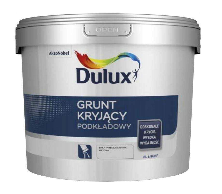 Dulux GRUNT kryjący farba podkładowa BIAŁA 8L