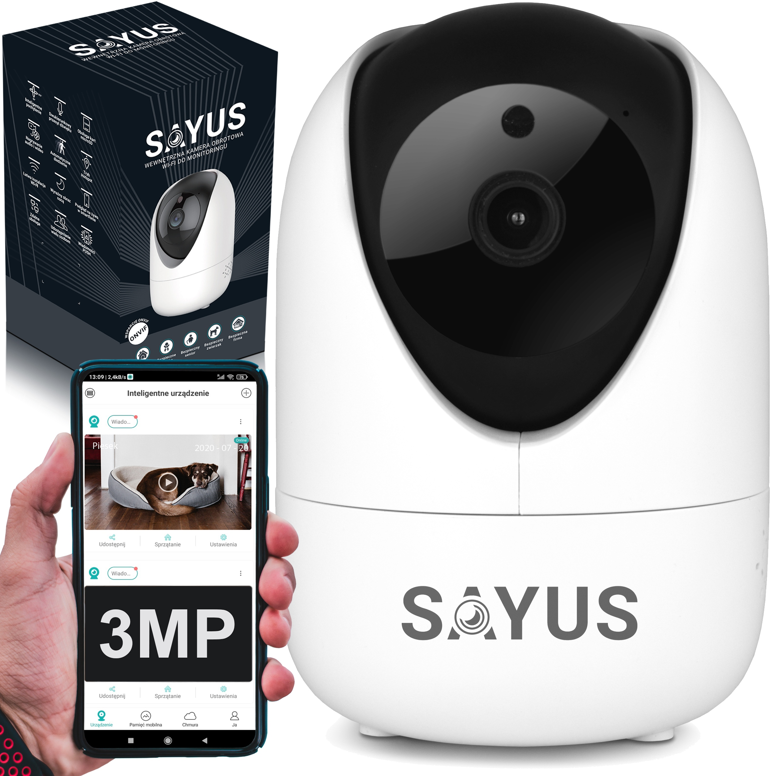 Niania Elektroniczna Kamera Obrotowa Ip Wifi 3MP