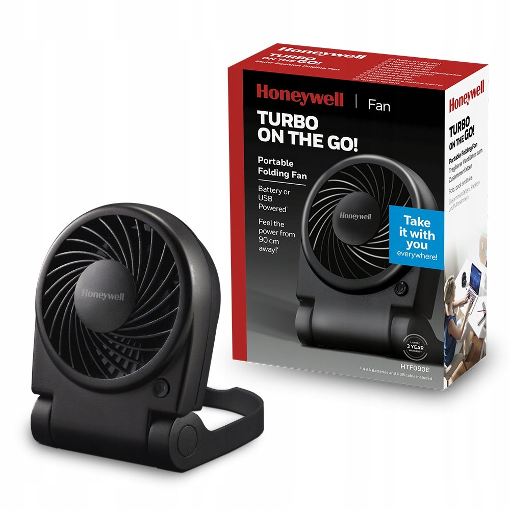 Вентилятор Honeywell TURBO HTF090 USB