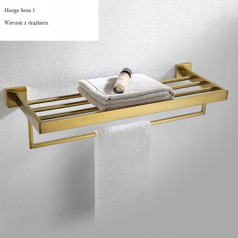 Zlatý vešiak na uteráky Hanga Series 1