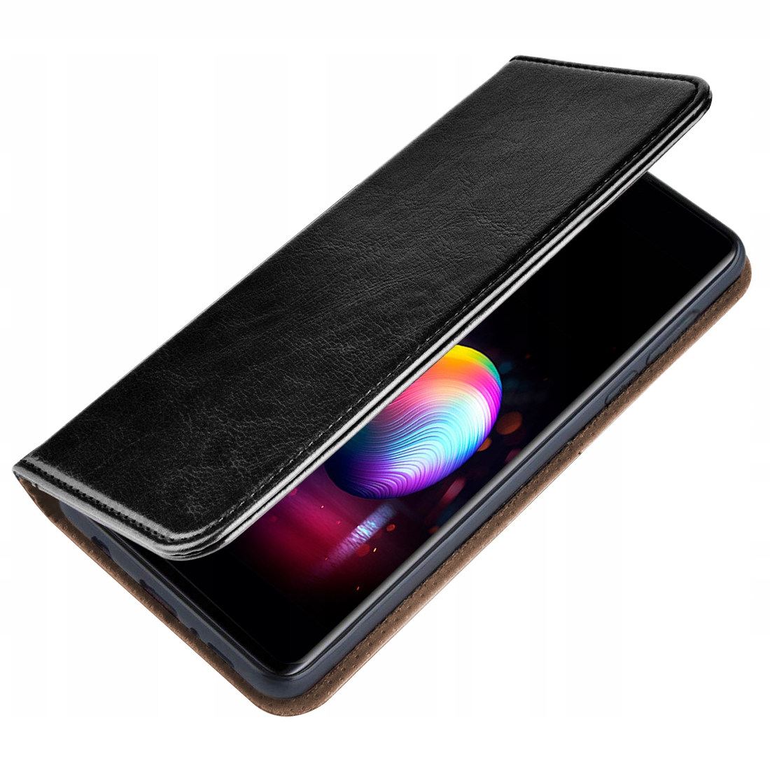 ETUI SKÓRZANE PORTFEL +SZKŁO do Samsung Galaxy M21 Dedykowany model Samsung Galaxy M21