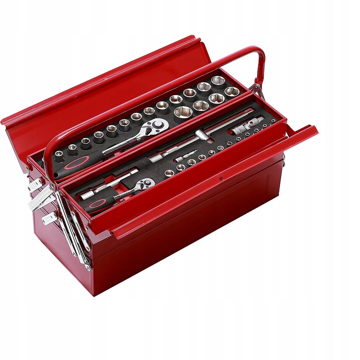 Solidna walizka z narzędziami we wkładach