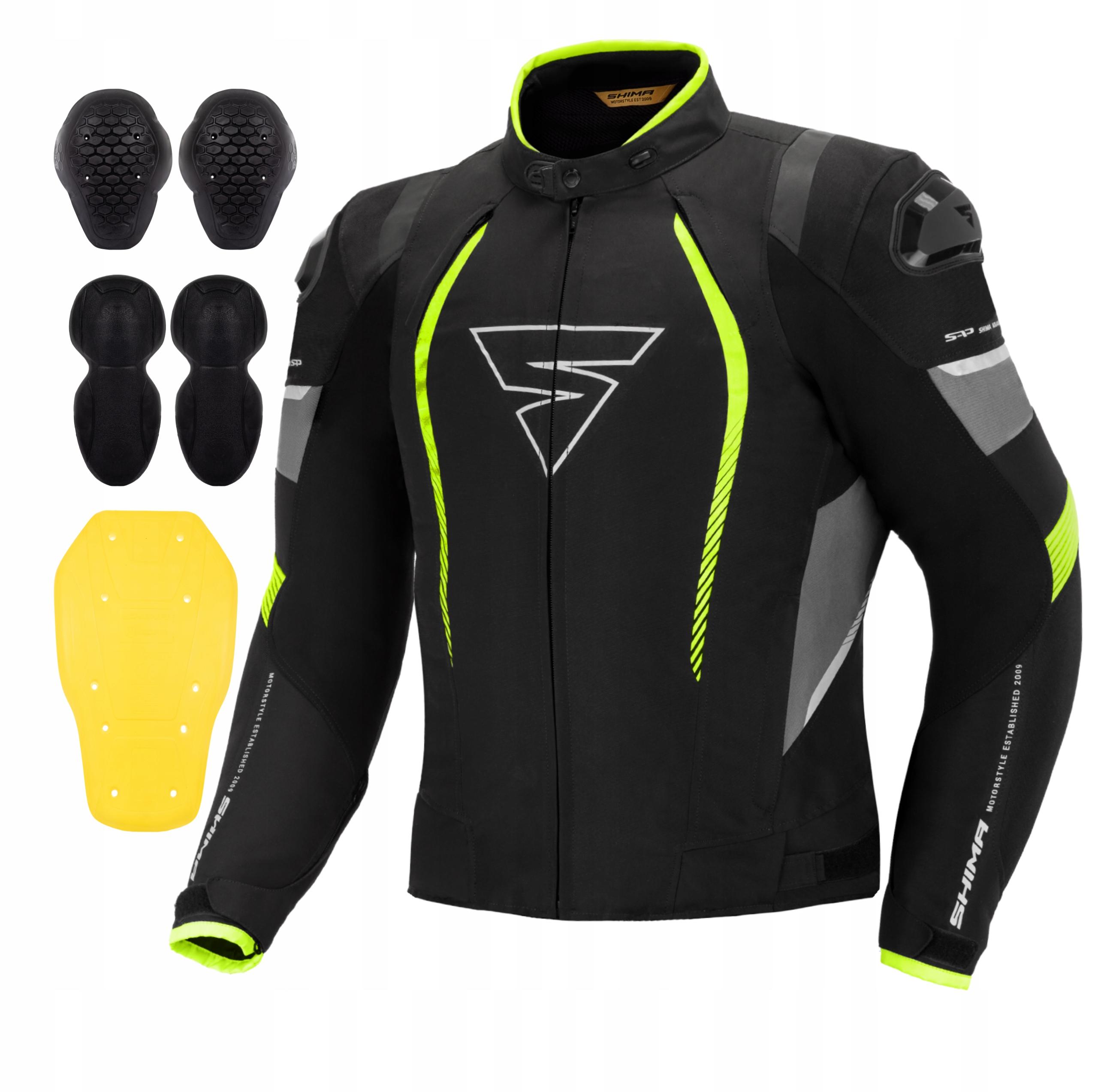 Мотоциклетная куртка SHIMA SOLID PRO FLUO + БЕСПЛАТНО