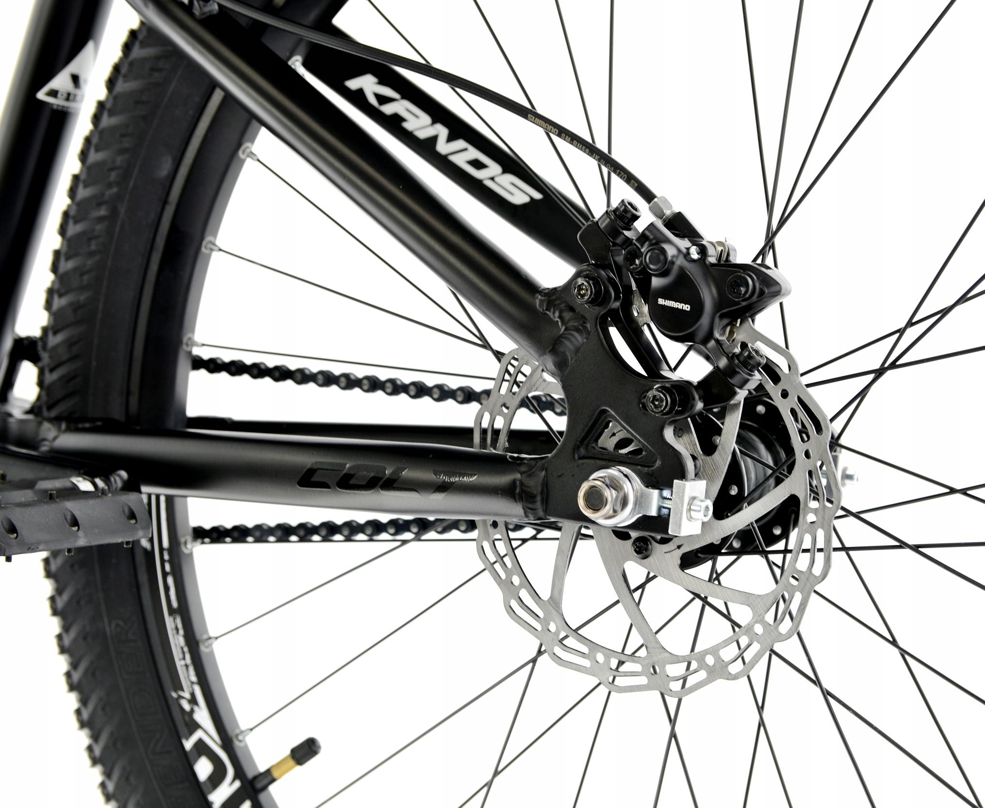 Rower Kands 26 DIRT COLT V2 13 CZARNY R21 Korba jednorzędowa