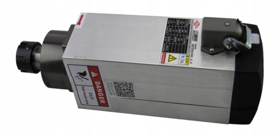 Wrzeciono CNC 3.5 kW, ER25, powietrze, 380V