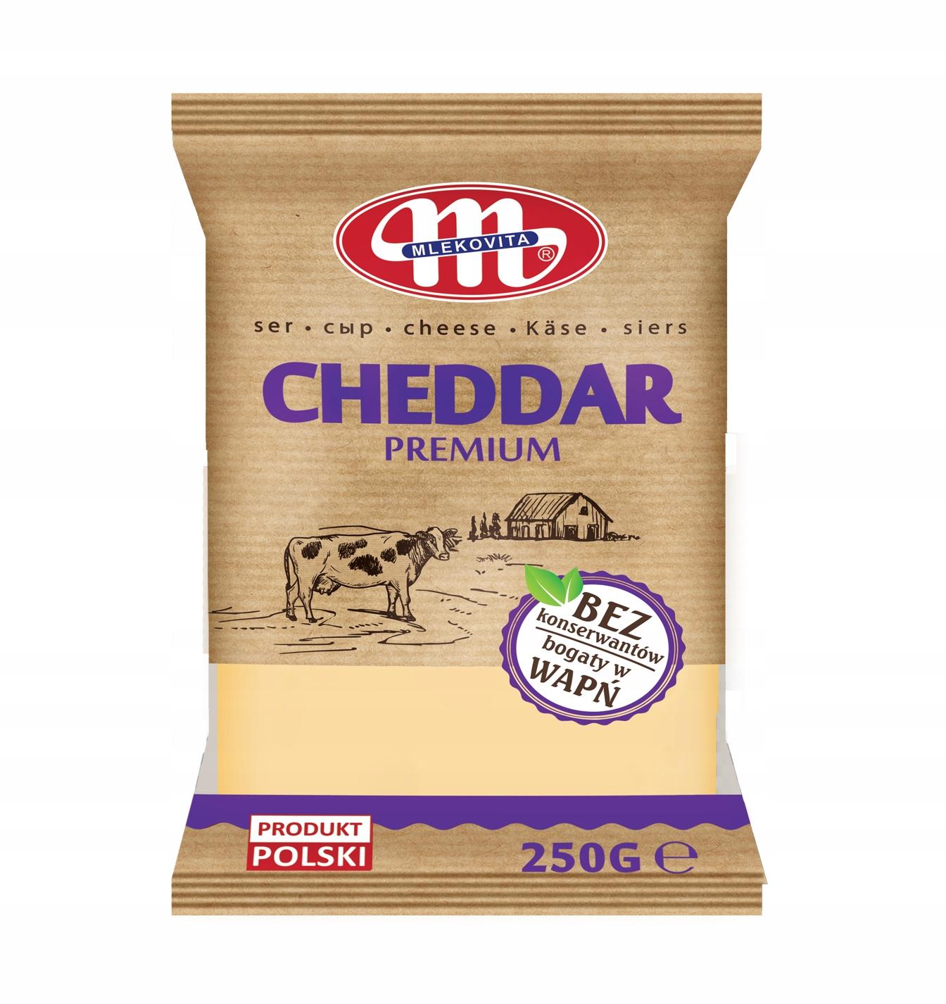 Ser Cheddar porcja 250g. Mlekovita
