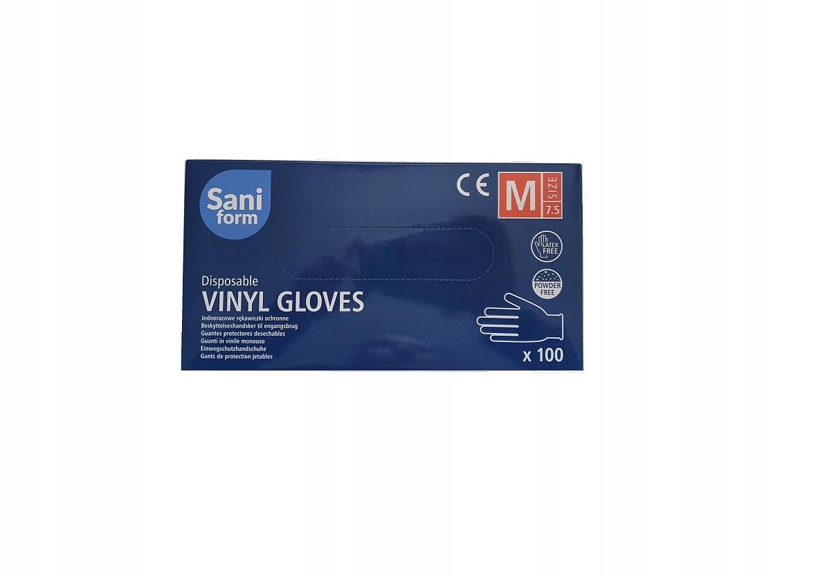 Перчатки виниловые нитриловые перчатки латексные M 100 шт