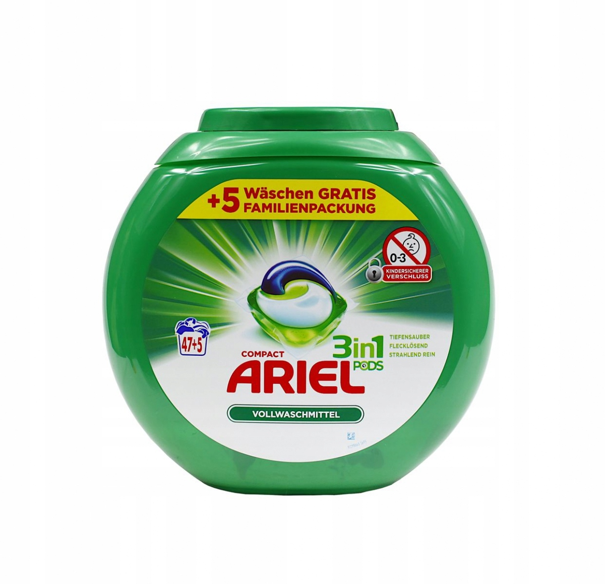Kapsule Ariel 3 v 1 Pravidelné farba biela 52 Ks DE