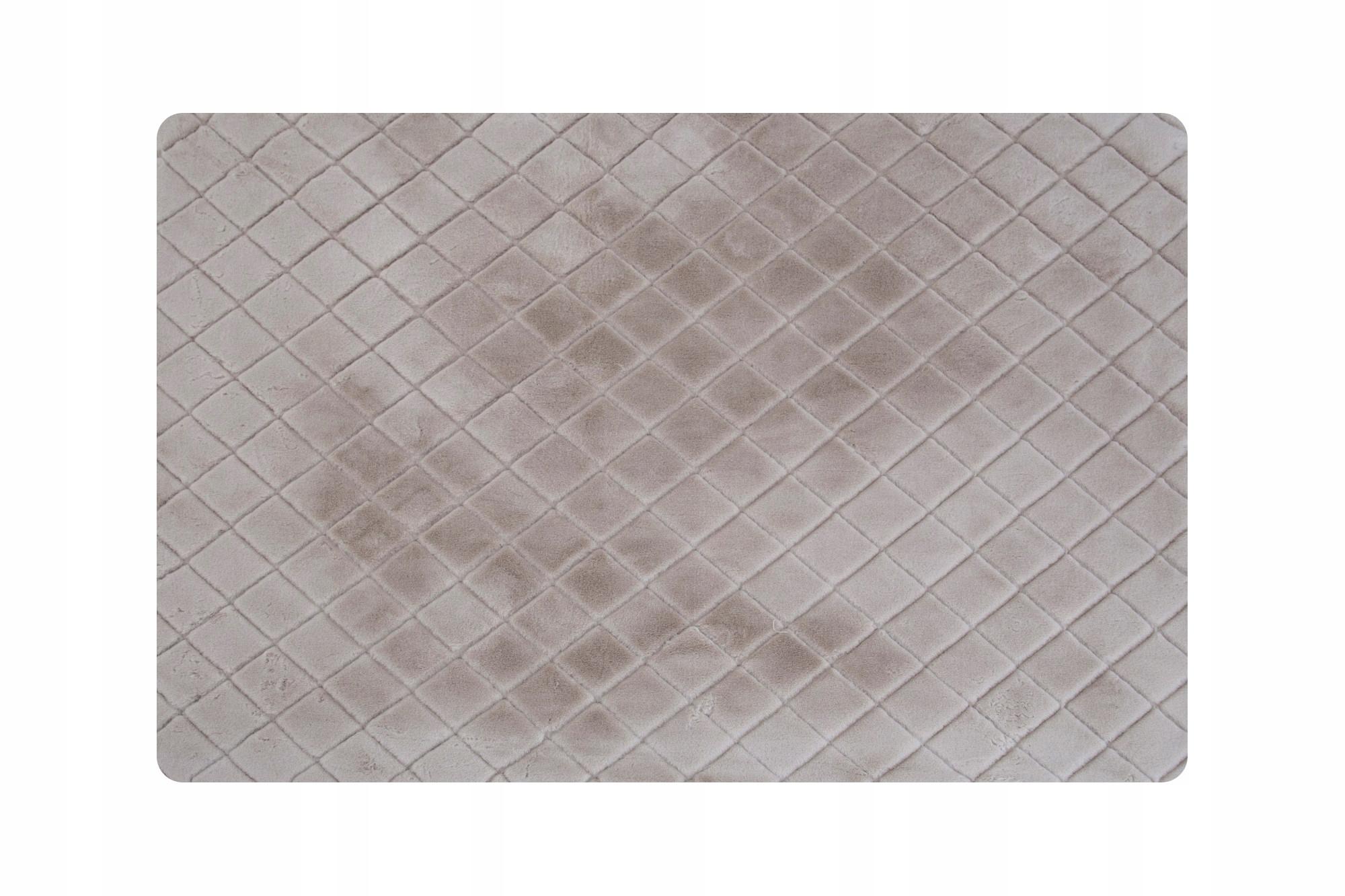 Стеганый серый нескользящий плюшевый коврик 150x90