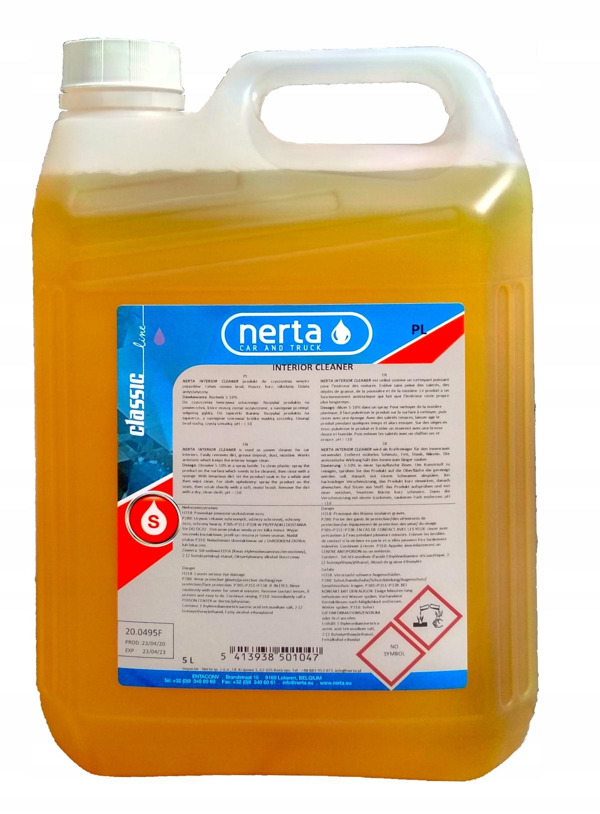 NERTA Interior Cleaner для ковров и обивки 5л